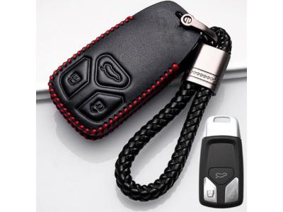 Кожено калъфче-ключодържател за безконтактен автомобилен ключ AUDI
