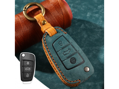 Кожено калъфче-ключодържател за автомобилен ключ AUDI