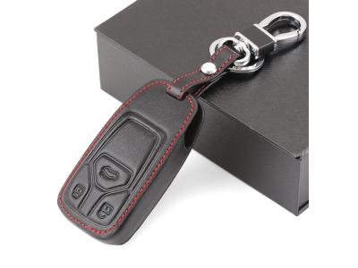 Кожено защитно калъфче с 3 бутона за автомобилен ключ Audi A4 TT Q7 TTS