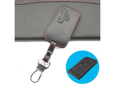 Предпазно кожено калъфче ключодържател с 3 бутона за автомобилен ключ Renault Clio Dacia Logan Sandero Megane Modus Espace Kangoo Kadjar