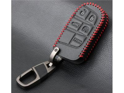 Кожено калъфче-ключодържател за автомобилен ключ FIAT JEEP DODGE CHRYSER