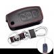 Кожено защитно калъфче за FORD с 3 Бутона, подходящо за автомобилни ключове Ford Fiesta Focus 2 Mondeo Ecosport Kuga Escape