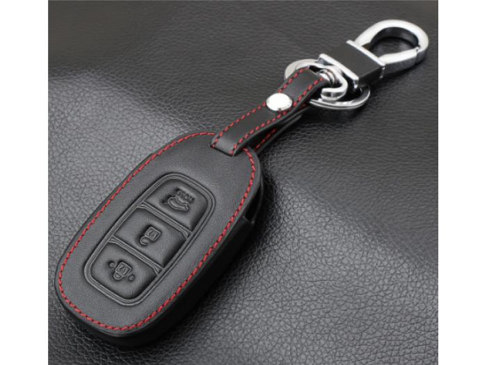 Кожено калъфче-ключодържател за автомобилен ключ Hyundai