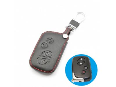 Кожено калъфче-ключодържател с 4 бутона за автомобилен ключ Lexus ES CT200h GX RX IS250 LX570