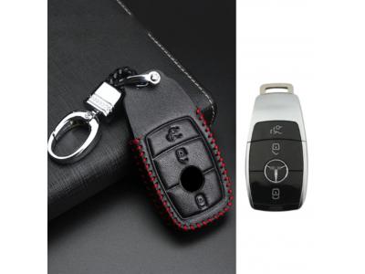 Кожено калъфче+ключодържател за автомобилен ключ MERCEDES-BENZ