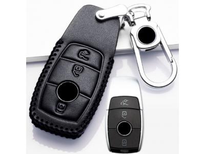 Кожено калъфче+ключодържател за безконтактен автомобилен ключ MERCEDES-BENZ