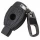 Кожено защитно калъфче-ключодържател с 3 бутона за автомобилен ключ Mercedes Benz CLS CLA GL R SLK AMG A B C S класа