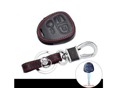 Кожено защитно калъфче-ключодържател с 3 бутона за автомобилен ключ Mitsubishi Outlander Pajero Lancer EX Mitsubishi ASX