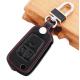 Кожено защитно калъфче-ключодържател с 3 бутона за сгъваем автомобилен ключ Opel  ASTRA J Astra Corsa Antara Meriva Зафира Insignia MOKKA