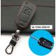 Кожено защитно калъфче-ключодържател с 2 бутона за сгъваем автомобилен ключ Opel Astra Corsa Insignia Meriva Zafira Antara АСТРА J MOKKA
