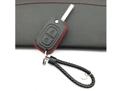 Кожено калъфче-ключодържател автомобилен ключ Lada, Renault