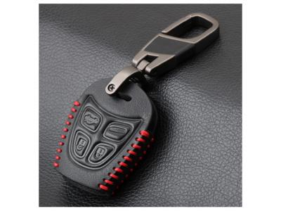 Предпазно кожено калъфче ключодържател с 4 бутона за автомобилен ключ SAAB 9-3 93 2003-2009