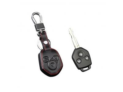 Кожено калъфче-ключодържател автомобилен ключ SUBARU