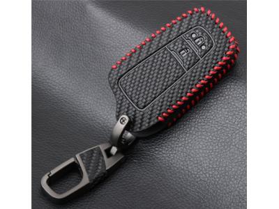 Кожено калъфче ключодържател с 2 бутона за автомобилен ключ Toyota