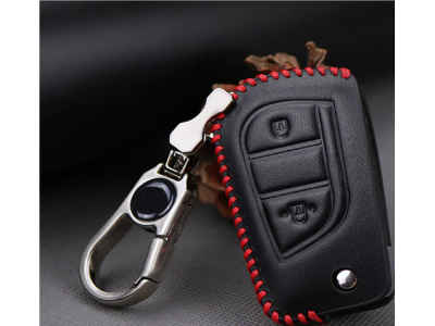 Кожено калъфче ключодържател за автомобилен ключ Toyota
