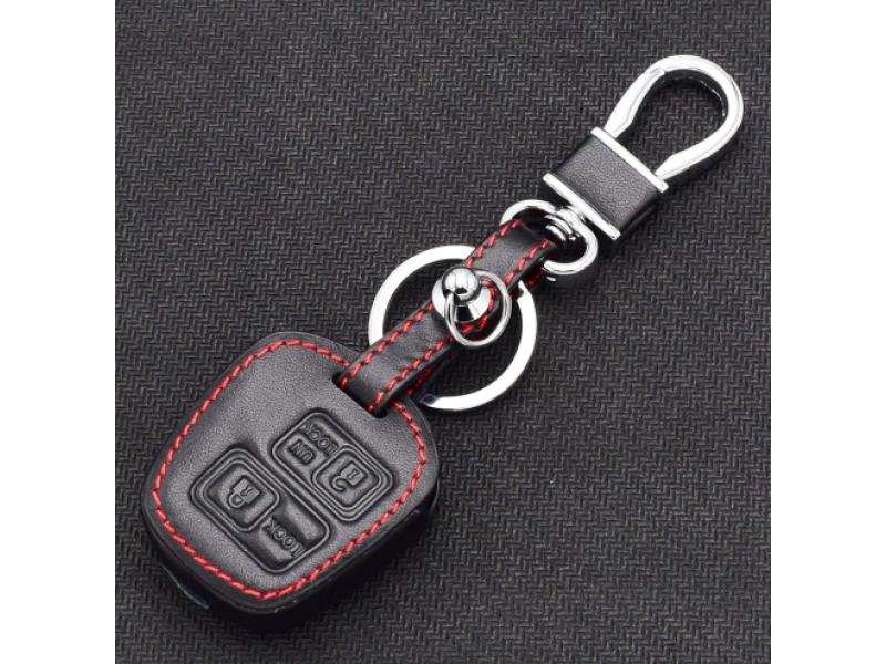 Кожено защитно калъфче за Toyota с 2 Бутона, подходящо за автомобилни ключове Toyota RAV4 Camry Corolla Prado Avensis Yaris Auris и Lexus ES GX