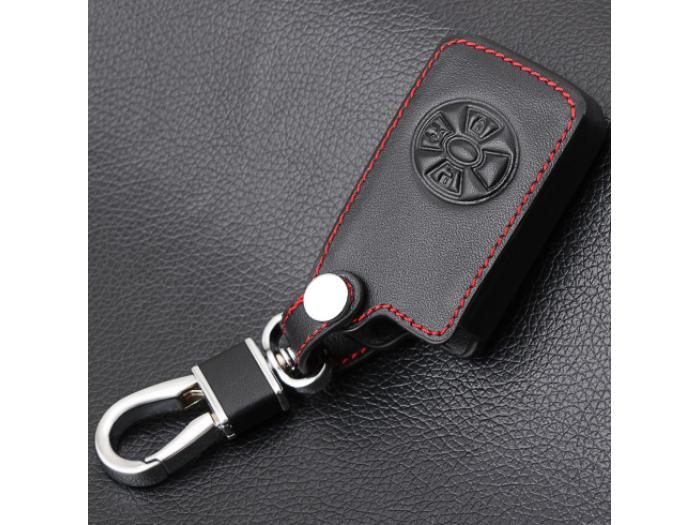 Предпазно кожено калъфче ключодържател с 3 бутона за автомобилен ключ Toyota Rav4 Corolla Yaris Hilux Vitz Aqua Camry Auris