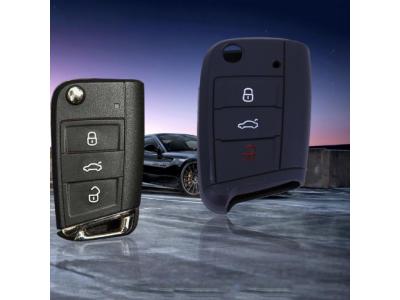 Силиконов кейс за ключ, подходящ за VW polo, golf 7, MK7 for Skoda Octavia combi A7 for SEAT Leon, Ibiza