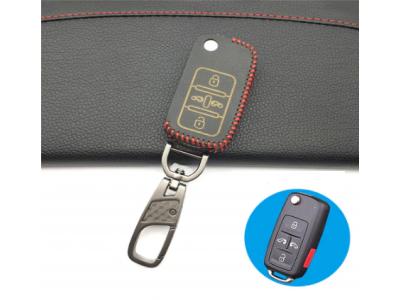 Кожено калъфче-ключодържател за сгъваем автомобилен ключ Volkswagen