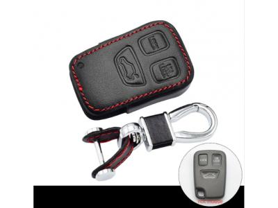 Кожено калъфче-ключодържател с 3 бутона за автомобилно дистанционно Volvo S40 S70 S90 V40 V90